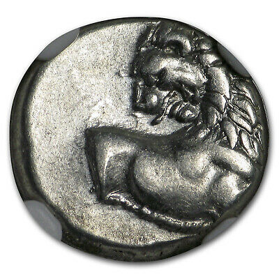 Thracian Chersonesus Ag Hemidrachm Lion (4th Cent.) BC Ch VF NGC - SKU#181617