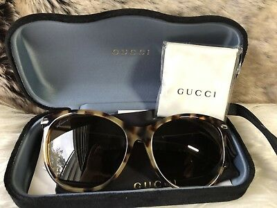 793cfe0930 NWT GUCCI Ladies Sunglasses Tortoise Brown Frame With Dark Brown Lens