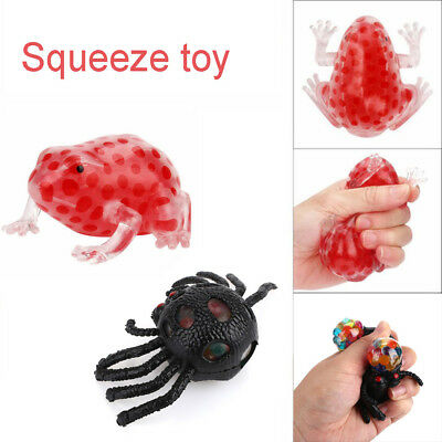 Novelty  Spider Transparent  Stress Relief Toy Squeeze Frog  Gel Bead Filled
