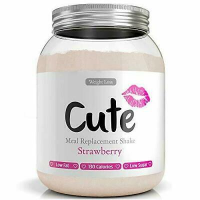 Cute Nutrition Strawberry Meal Replacement Shakes Weight Loss Control & Energy