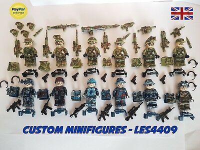 12pc Army | Military | Camo | WWII Soldier Custom Minifigure +FREE LEGO BRICK UK