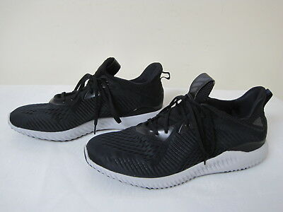 41abb62a9f12 Men s Adidas AlphaBounce Athletic Running Shoe BY4264 Black Grey ssc 130J