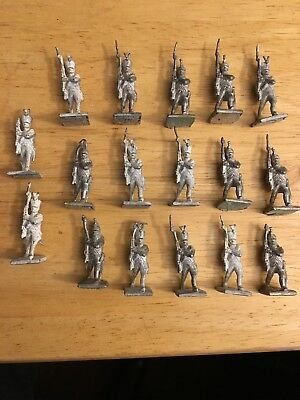 (17) Garrison 25mm metal Napoleonic miniatures French Army Waterloo Primered