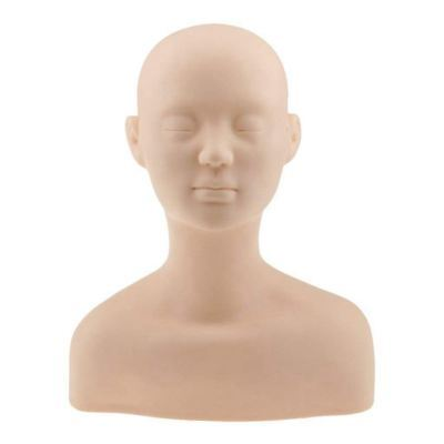6X(Professionnel Tete Epaule Os d'exercice Mannequin en Silicone Pour Maquill I7