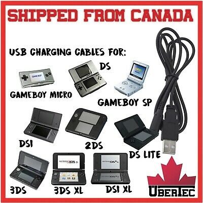 USB Charger Cable For GameBoy Advance SP, Nintendo DS, DS Lite, DSi, 2DS, 3DS XL