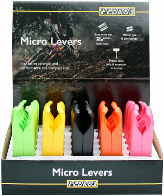 Pedro's Micro Lever 25x2 Pack, 5 Color Counter Display, Yellow, Pink, Green, Ora