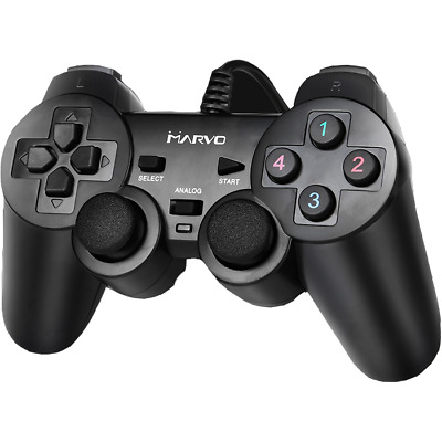 GT-006 USB Plug & Play Wired Vibration Gamepad for PC