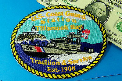 USCG U.S.COAST PATCH GUARD STATION Tillamook Bay Tradition & Service Est1908 #AX