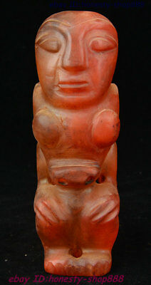 """7.2""""rare China Hongshan Culture Boutique red crystal god bird statue"""