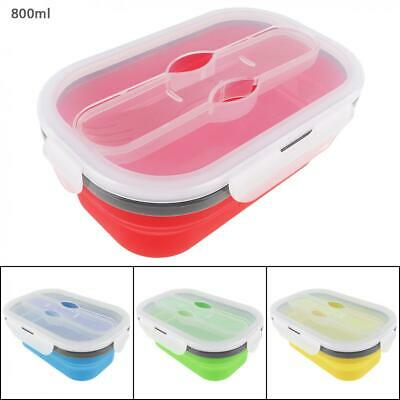 Silicone Collapsible Lunch Box Portable Folding Food Storage Containers 800ML