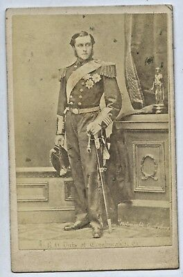 1868 Cdv Photographic Company Sydney Hrh Duke Of Edinburgh Prince Alfred U27
