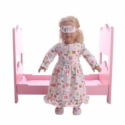 """18"""" Doll Clothing Set Eye Mask Pajamas For American Girl Our Generation Doll"""