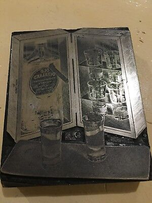 Vintage Printers Black: Old Overland Whiskey