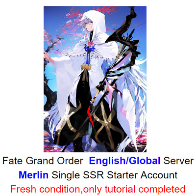 [NA]Fate Grand Order English FGO Fresh Starter account SSR Merlin+200-300 SQ
