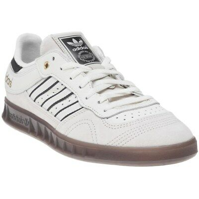 New Mens adidas White Natural Handball Top Suede Trainers Retro Lace Up