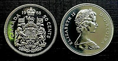 Canada 1968 Proof Like Fifty Cent Piece!!