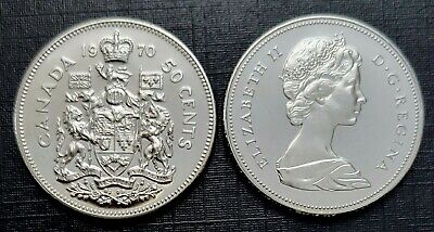 Canada 1970 Proof Like Fifty Cent Piece!!