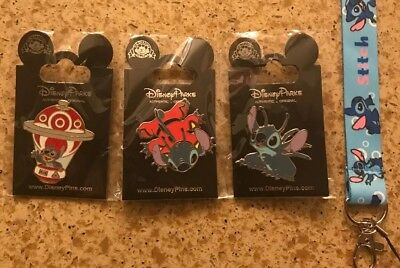 Stitch Disney Pin Lot Of 3!. FREE LANYARD US SELLER! U PICK BOY OR GIRL