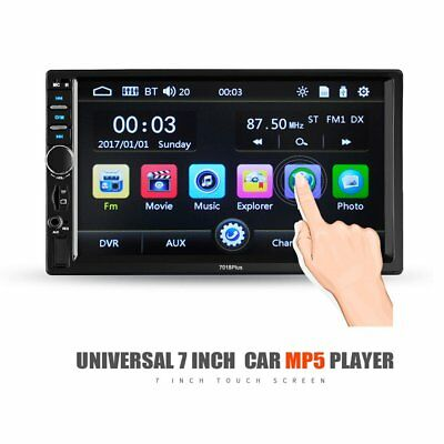"""SALE 7"""" 2DIN HD 7018B Car MP5 MP3 Player Bluetooth Touch Screen Stereo Radio US"""