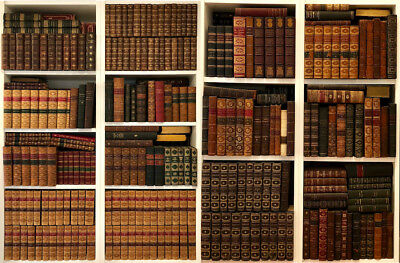 Collection of 390 Antiquarian Books 18-20 Century Literature, History, Travel