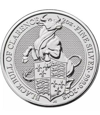 2018 U.K. 5 Pound Silver Queen's Beast The Black Bull of Clarence .9999 2 oz BU