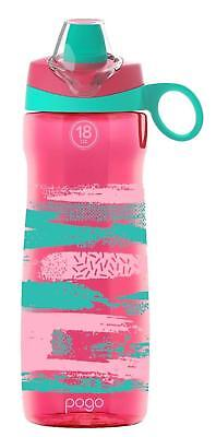 53c7966c7b Pogo Bpa Free Plastic Portable Water Bottle With Flip Straw - Pink Paint