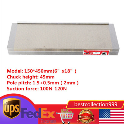 """6""""X18"""" Permanent Magnetic Chuck For Grinding Machine dense table Workholding NEW"""
