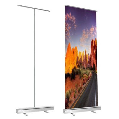"31.5""x79"" Economy Retractable Roll up Banner Stand Display Aluminum Sign USA"