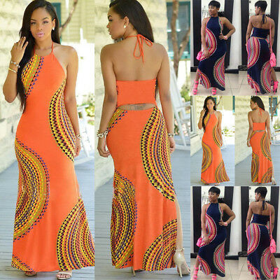Fashion Women Summer Dress Maxi Long Evening Party Dress Beach Dress Sundress US