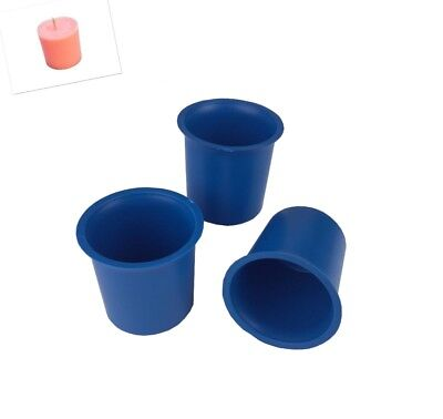 3 x Seamless Votive Candle Making Moulds, UK Made, Rigid Plastic, Craft. S7619