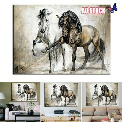 Frameless Horse Abstract Canvas Wall Art Print Pictures Home Hanging Decors