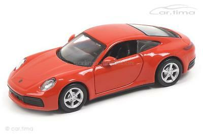 Porsche 911 (992) Carrera 4S (2019) - lava orange - Maisto 1:43 - WAP0200270K