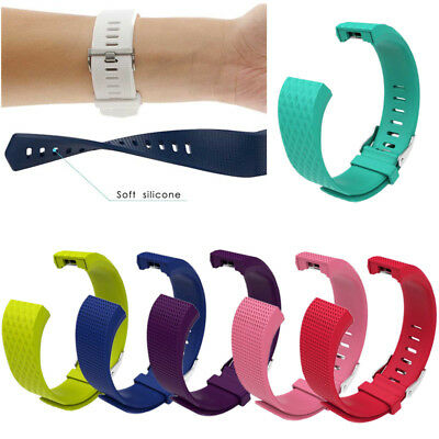 Replacement Wristband For Fitbit Charge 2 Band Silicone Fitness Large Small