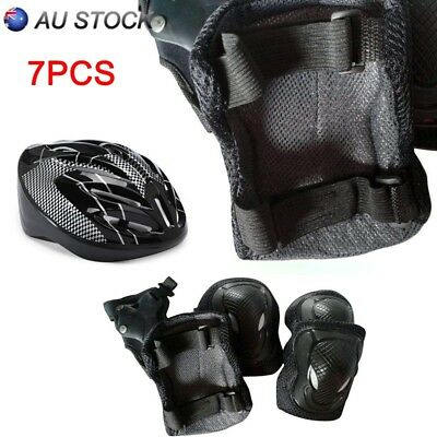 7PCS Knee Pads and Helmet Sport Safety Protective Gear Guard for Adult Set AU