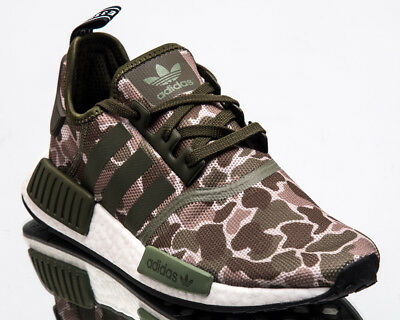 4e38c0546 adidas Originals NMD R1 Duck Camo Men New Khaki White Lifestyle Sneakers  D96617