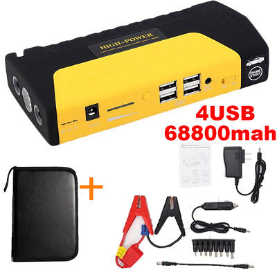 68800mAh Portable Car Jump Starter Power Bank Vehicle Battery Booster Charger US