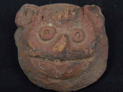 Ancient Teracotta Lion Head Bactrian C.300 BC  #STC497