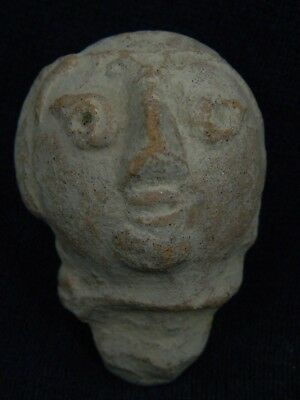 Ancient Teracotta Head Bactrian C.300 BC #TR8038
