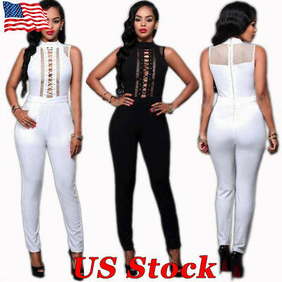 Fashion Women Clubwear Playsuit Casual Sleeveless Back Zip Party Jumpsuit&Romper