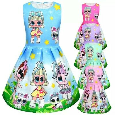 New Girls Kids Kawaii LOL Surprise Doll Party Holiday Birthday Dress Costume L8