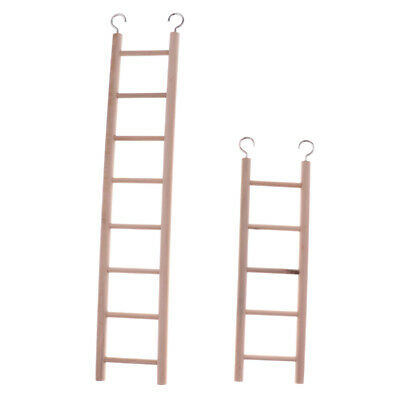 2pcs Pets Birds Parrots Budgie Stairs Play Toy Ladder Toy for Small Animals