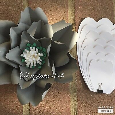 HARD COPY PAPER Flower Template 4 DIY Paper Flower Backdrops