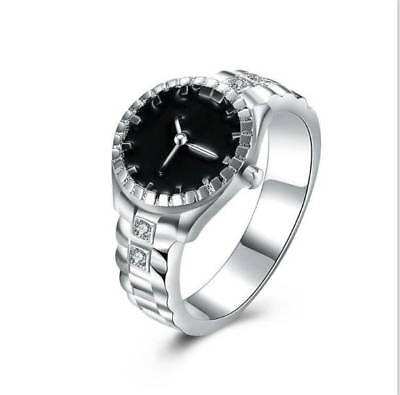 Creative Women Silver Finger Ring Watch Bracelet Personality Lovers Jewelry Gift