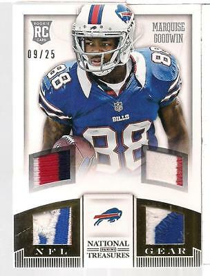 Marquise Goodwin 2013 Panini National Treasures Quad Rookie Patch /25  MHK2791