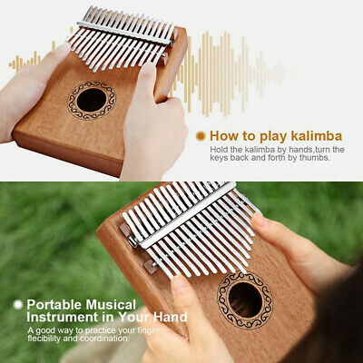 17 Key Kalimba Single Mahogany Thumb Piano Mbira Mini Keyboard Instrument Gift