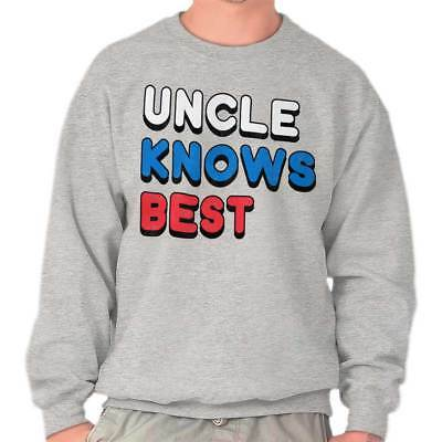 0e656ed37 UNCLE KNOWS BEST Fun Family Fathers Day Birthday Gift Sweatshirt ...