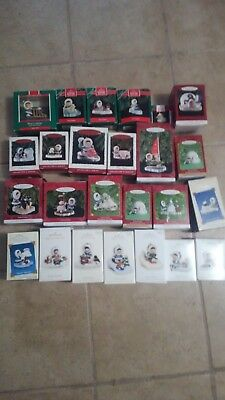 Hallmark Ornament Frosty Friends Lot Of 25 Ornaments ranging from 1989-2011