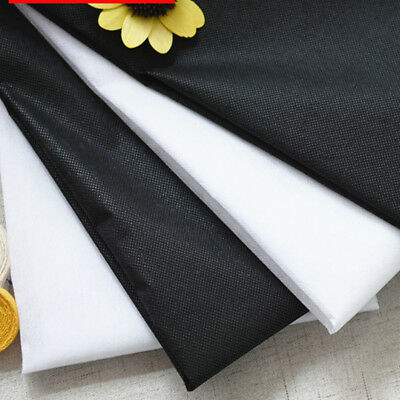 1M Iron On Fusible Interfacing Fabric Stretch Buckram Glue Tape Sewing Cloth