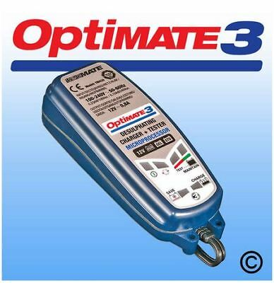 Optimate Battery Charger 3 - Vehicle Scooter Motorcycle