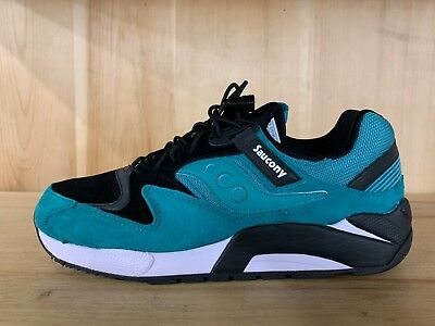best authentic 090ca 1c19b Saucony Grid 9000 Green Black White Running Mens Size 8-10 S70196-4